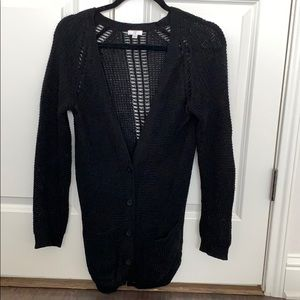 BP Nordstrom Black Knit Cardigan Long sz XS